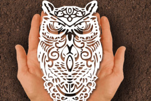 Print on Demand: Owl Papercut SVG Graphic Print Templates By johanruartist