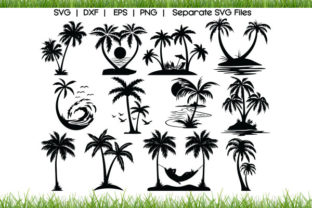 Palm Tree Graphic Crafts By VectorSVGFormet