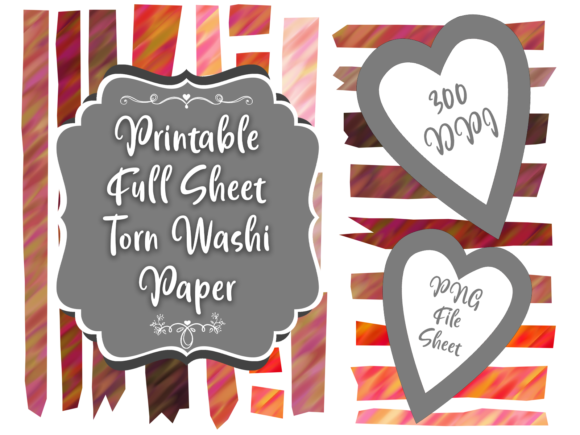 Print on Demand: Pink & Red Washi Tape Clipart Set Graphic Illustrations By Whiskey Black Designs