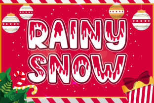 Print on Demand: Rainy Snow Display Font By Graphicxell