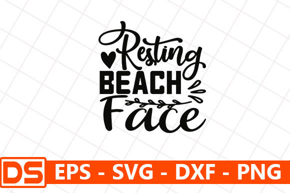 Print on Demand: Resting Beach Face Graphic Print Templates By Star_Graphics