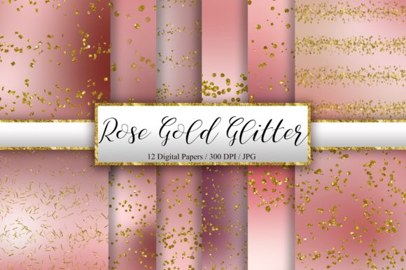Rose Gold Glitter Background Graphic Backgrounds By PinkPearly