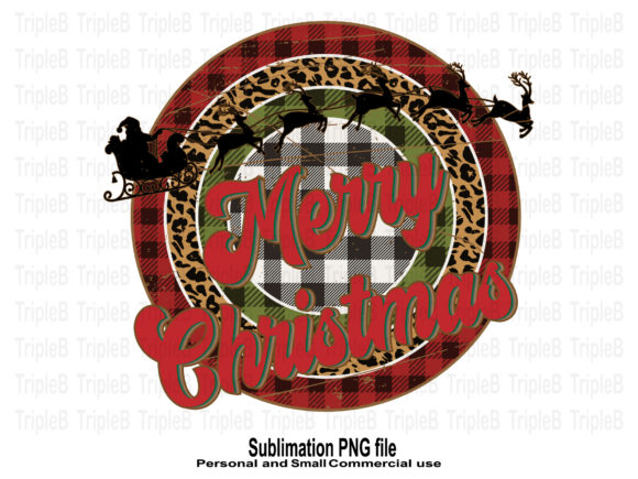 Print on Demand: Santa Sleigh Merry Christmas Sublimation Graphic Crafts By TripleBcraft