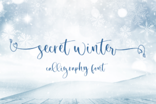 Print on Demand: Secret Winter Script & Handwritten Font By Sronstudio