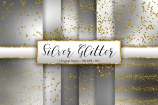 Silver Glitter Background Digital Papers Graphic Backgrounds By PinkPearly