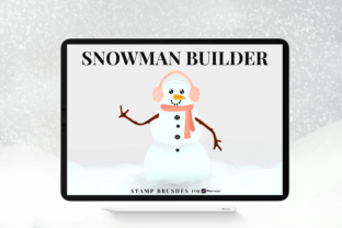 Print on Demand: Snowman Builder Stamp Brushes Graphic Brushes By Christine Fleury