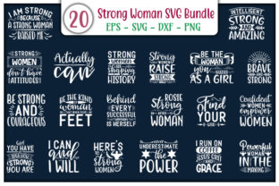 Print on Demand: Strong Woman Design Bundle Graphic Print Templates By GraphicsBooth