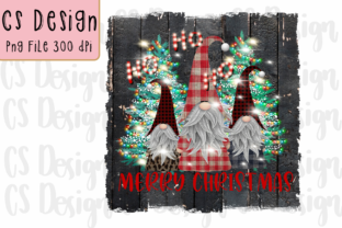 Print on Demand: Sublimation Gnomes Family Christmas Graphic Plotterdateien By CSDesign