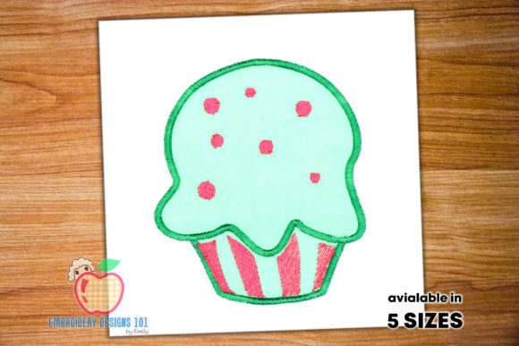 Sweet and Tasty Cup Cake Dessert & Sweets Embroidery Design By embroiderydesigns101