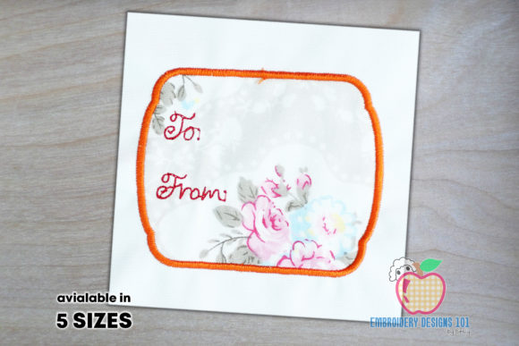 Tag Card for the Wishing Applique Design Borders Embroidery Design By embroiderydesigns101