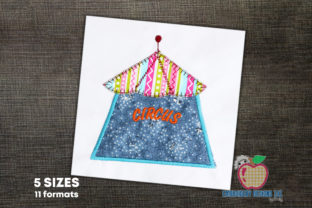 Tent of the Circus Design Circus & Clowns Embroidery Design By embroiderydesigns101