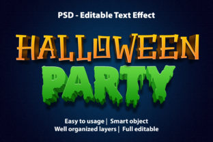 Print on Demand: Text Effect Halloween Party Premium Graphic Graphic Templates By yosiduck