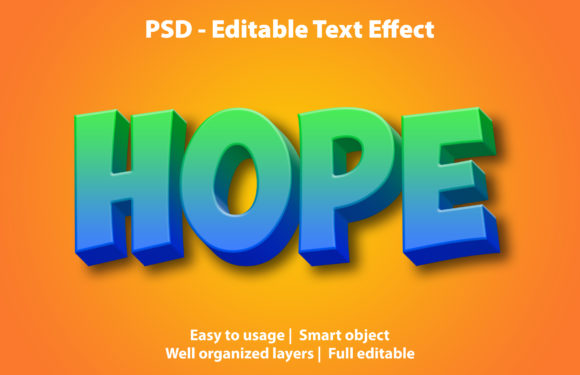 Text Effect Hope Premium Graphic Graphic Templates By yosiduck