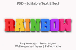 Text Effect Rainbow Premium Graphic Graphic Templates By yosiduck