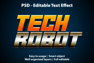 Print on Demand: Text Effect Tech Robot Premium Graphic Graphic Templates By yosiduck