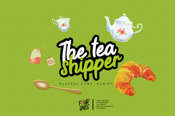 Print on Demand: The Tea Shipper Display Font By Fourlines.design