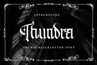 Print on Demand: Thundra Blackletter Font By TypeFactory