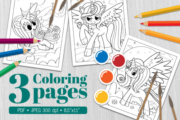 Unicorn Coloring Page15 Graphic Coloring Pages & Books By Euphoria Design