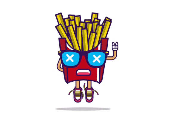 Vector Potatoes French Fries Graphic Illustrations By maniacvector