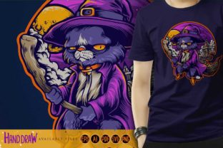 Hogwarts Cat Withcraft Shaman Graphic Illustrations By artgrarisstudio