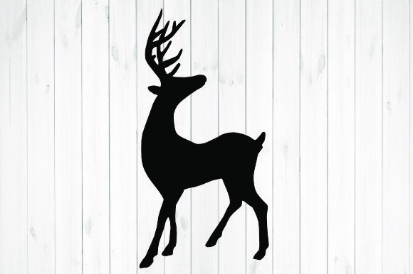Print on Demand: Reindeer Christmas Silhouette Graphic Illustrations By rayan
