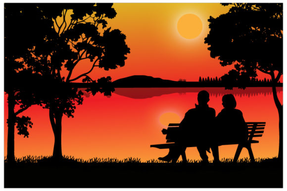 Print on Demand: Sunset Graphic Illustrations By curutdesign