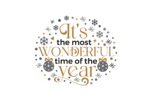 It's the Most Wonderful Time of the Year Christmas Craft Cut File By Creative Fabrica Crafts