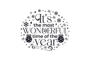 It's the Most Wonderful Time of the Year Christmas Craft Cut File By Creative Fabrica Crafts 2