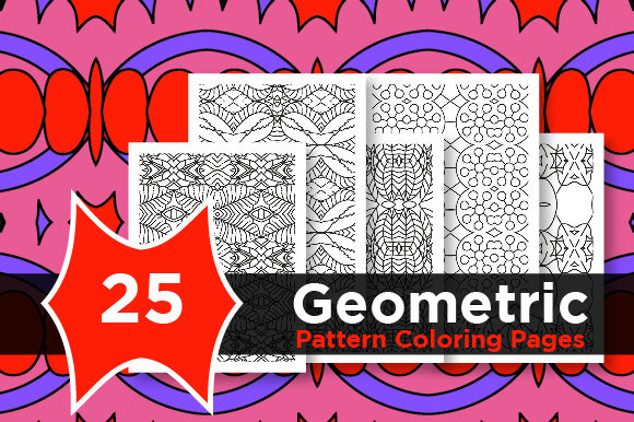 Print on Demand: Abstract Pattern Design Vector Graphic Coloring Pages & Books Adults By Riduwan Molla