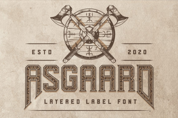 Print on Demand: Asgaard Display Font By Vozzy Vintage Fonts And Graphics
