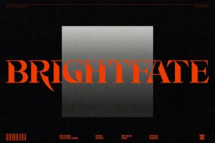 Print on Demand: Brightfate Display Font By zealab fonts division