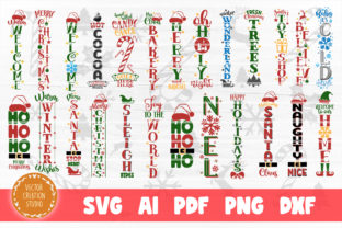 Print on Demand: Christmas Porch SVG Bundle Cut Files Graphic Crafts By VectorCreationStudio