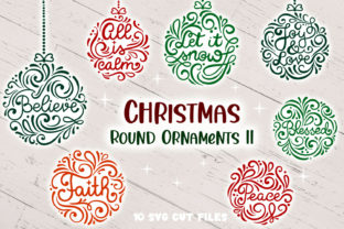 Print on Demand: Christmas Round Ornaments II- 10 SVG Cut Graphic Crafts By tatiana.cociorva 1