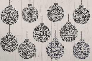 Print on Demand: Christmas Round Ornaments II- 10 SVG Cut Graphic Crafts By tatiana.cociorva 2