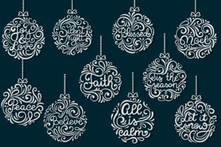 Print on Demand: Christmas Round Ornaments II- 10 SVG Cut Graphic Crafts By tatiana.cociorva 4