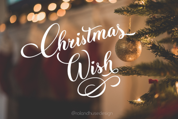 Print on Demand: Christmas Wish Script & Handwritten Font By Roland Hüse Design