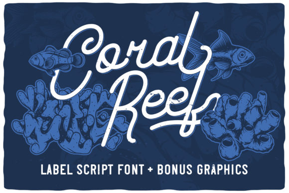 Print on Demand: Coral Reef Script & Handwritten Font By Vozzy Vintage Fonts And Graphics