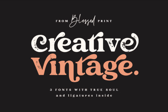 Print on Demand: Creative Vintage Display Font By Blessed Print