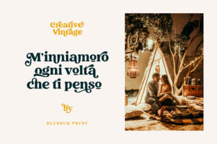 Print on Demand: Creative Vintage Display Font By Blessed Print 11