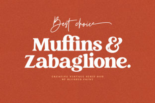 Print on Demand: Creative Vintage Display Font By Blessed Print 12