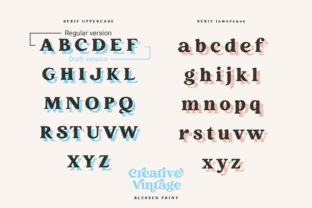 Print on Demand: Creative Vintage Display Font By Blessed Print 17