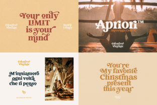 Print on Demand: Creative Vintage Display Font By Blessed Print 2