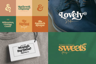 Print on Demand: Creative Vintage Display Font By Blessed Print 3