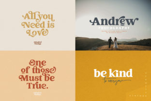 Print on Demand: Creative Vintage Display Font By Blessed Print 4