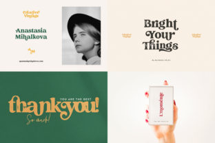 Print on Demand: Creative Vintage Display Font By Blessed Print 6