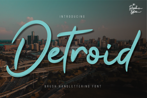 Print on Demand: Detroid Script & Handwritten Font By Productype