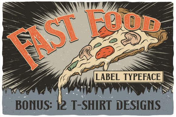 Print on Demand: Fast Food Display Font By Vozzy Vintage Fonts And Graphics