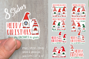 Gnomes. Christmas Stickers Bundle. Graphic Illustrations By Createya Design