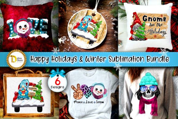 Happy Holidays & Winter Sublimation Graphic Crafts By dina.store4art
