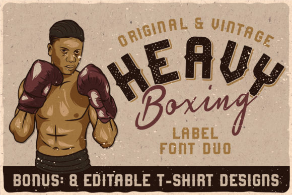 Print on Demand: Heavy Boxing Display Font By Vozzy Vintage Fonts And Graphics